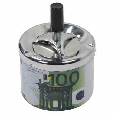 Asbak met draaiende deksel 100 euro