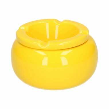 Ronde stormasbak geel 11 cm