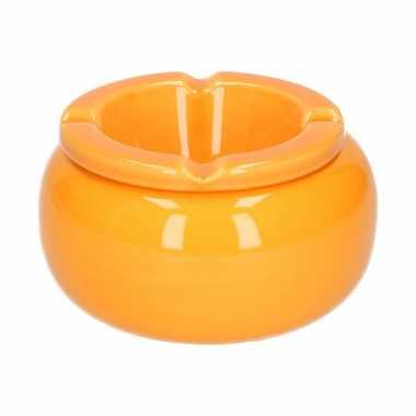 Ronde stormasbak oranje 11 cm
