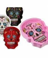 Rode asbakken mexicaanse skull