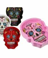 Zwarte asbakken mexicaanse skull
